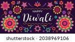 happy diwali hindu festival... | Shutterstock .eps vector #2038969106
