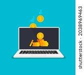 cashback concept. saving money. ... | Shutterstock .eps vector #2038969463