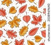 vector leaves seamless pattern  ...   Shutterstock .eps vector #2038969640