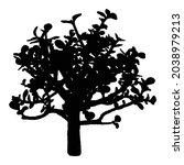 urban house plant silhouette ... | Shutterstock .eps vector #2038979213