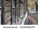 Street in an old city with...