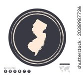 black grunge stamp circle... | Shutterstock .eps vector #2038987736