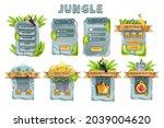 ui stone game design vector set ...