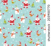 christmas vintage seamless... | Shutterstock .eps vector #203900770