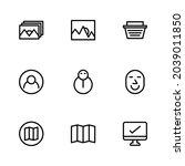 basic app and web ui icon set