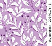vector hand drawn leaves... | Shutterstock .eps vector #2039017646