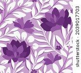 vector hand drawn leaves... | Shutterstock .eps vector #2039017703