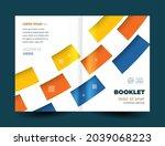 booklet cover stripes lines... | Shutterstock .eps vector #2039068223
