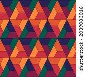 seamless pattern. ethnic... | Shutterstock .eps vector #2039083016