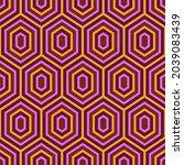 seamless pattern. hexagons... | Shutterstock .eps vector #2039083439