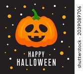 happy halloween greeting card ...   Shutterstock .eps vector #2039089706