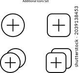 additional icons set isolated...