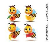 collection set of cartoon cute... | Shutterstock .eps vector #2039166206
