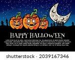 halloween design vector  ... | Shutterstock .eps vector #2039167346
