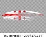 georgia  flag with brush paint... | Shutterstock .eps vector #2039171189