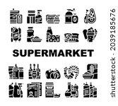 supermarket selling department...   Shutterstock .eps vector #2039185676