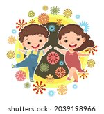 child with salute. little boy...   Shutterstock .eps vector #2039198966