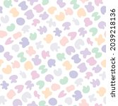 cute gentle childish seamless...   Shutterstock .eps vector #2039218136
