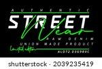 street wear authentic raw denim ... | Shutterstock .eps vector #2039235419
