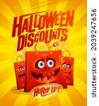 halloween discounts sale vector ... | Shutterstock .eps vector #2039247656