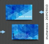 business card template abstract ... | Shutterstock .eps vector #203925010