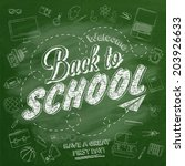 welcome back to school... | Shutterstock .eps vector #203926633