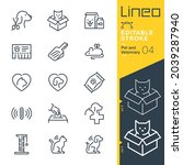 lineo editable stroke   pet and ... | Shutterstock .eps vector #2039287940