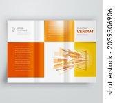 tri fold cover design template... | Shutterstock .eps vector #2039306906