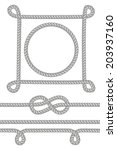 set of rope frames and knots... | Shutterstock .eps vector #203937160