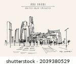 artistic abu dhabi  united arab ... | Shutterstock . vector #2039380529