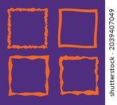 set of square orange vector...   Shutterstock .eps vector #2039407049