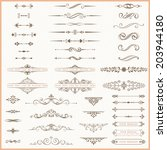 page dividers and ornate... | Shutterstock .eps vector #203944180