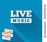 live music sign icon. karaoke... | Shutterstock .eps vector #203944210