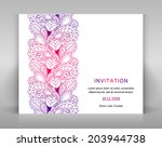 white invitation with elegant... | Shutterstock .eps vector #203944738