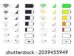 phone bar status icon set....