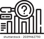 predictive chart out line...   Shutterstock .eps vector #2039462750
