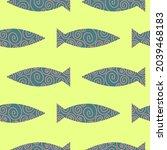 fish seamless pattern design... | Shutterstock .eps vector #2039468183