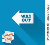 way out left sign icon. arrow... | Shutterstock .eps vector #203947330