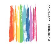 art rainbow colors brush stroke ... | Shutterstock .eps vector #203947420