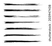 vector set of grunge brush... | Shutterstock .eps vector #203947438