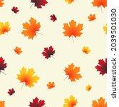 maple leaves seamless pattern....   Shutterstock .eps vector #2039501030
