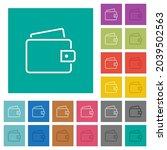 single wallet outline multi... | Shutterstock .eps vector #2039502563