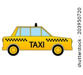 taxi car icon on white... | Shutterstock .eps vector #203950720