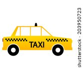 taxi car icon on white...   Shutterstock .eps vector #203950723