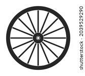 wild west wheel vector icon...   Shutterstock .eps vector #2039529290