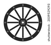 wild west wheel vector icon...   Shutterstock .eps vector #2039529293