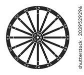 wild west wheel vector icon...   Shutterstock .eps vector #2039529296