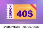40  coupon promotion sale for... | Shutterstock .eps vector #2039573039