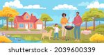happy young family make... | Shutterstock .eps vector #2039600339
