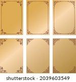 western antique frame vintage... | Shutterstock .eps vector #2039603549